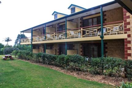 Left wing of motel