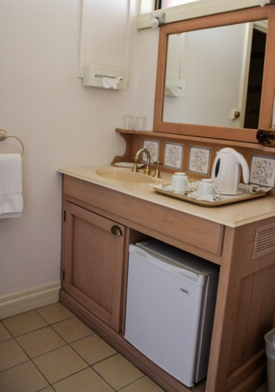 Bathroom with basic amenities